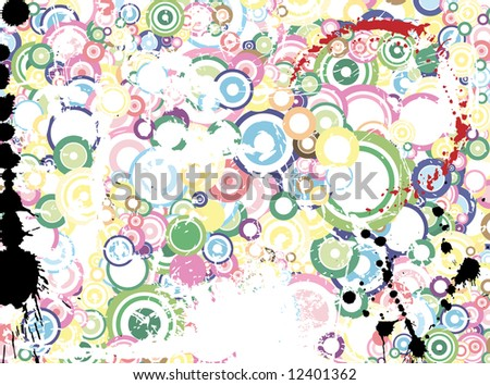 Lot of circles - grunge background / pattern / texture