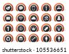 lot of 20 icons for all purpose - stock vector