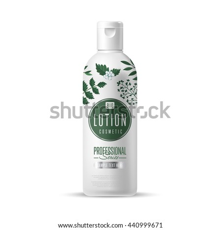 lotion bottle design package natural organic stock vector royalty