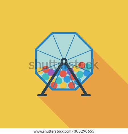 Lotteries icon. Flat vector related icon with long shadow for web and mobile applications. It can be used as - logo, pictogram, icon, infographic element. Vector Illustration. - stock vector