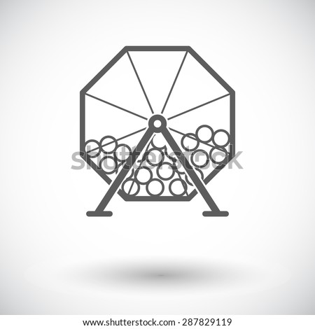 Lotteries. Single flat icon on white background. Vector illustration. - stock vector