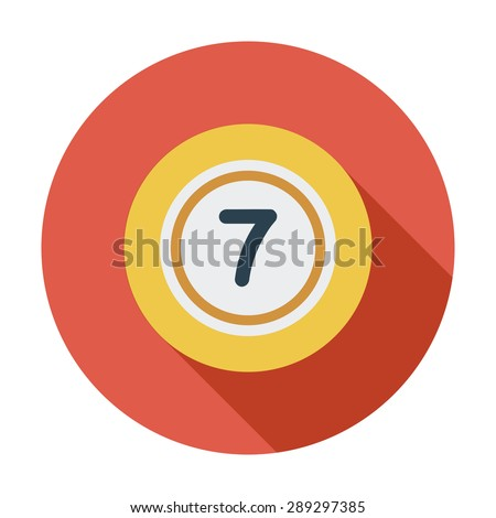 Lottery ball. Flat icon on the white background for web and mobile applications. Vector illustration. - stock vector