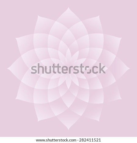 Lotus Important Sacred Symbol Buddhism Hinduism Stock Vector
