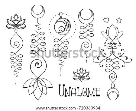 Lotus sacred geometry unamole hindu symbol stock vector 720363934 lotus and sacred geometry unamole hindu symbol of wisdom and path to perfection set mightylinksfo