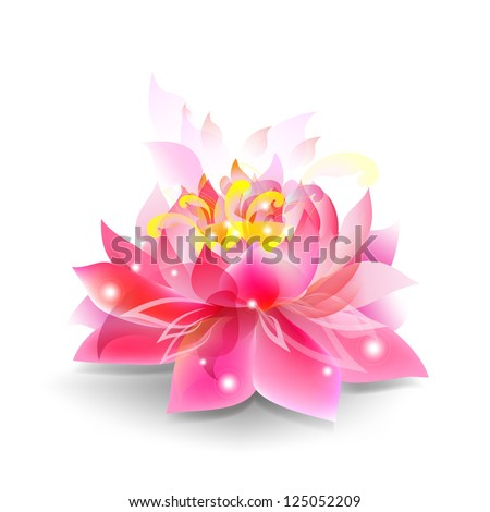 Lotus flower isolated - stock vector