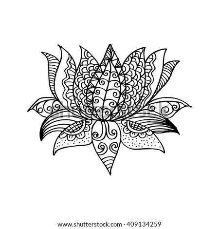 Lotus Mandala Vector Ornamental Lotus Ethnic Stock Vector ...
