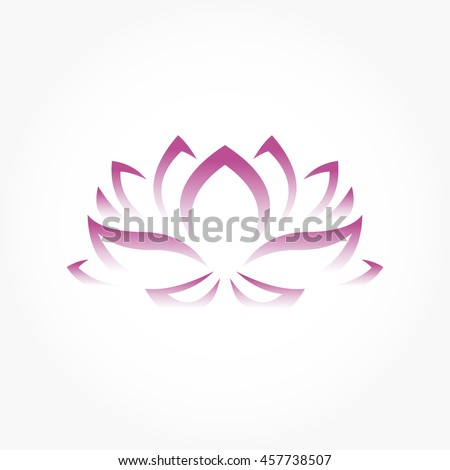 Lotus flower symbol gradient purple stock vector 2018 457738507 lotus flower symbol in gradient purple mightylinksfo