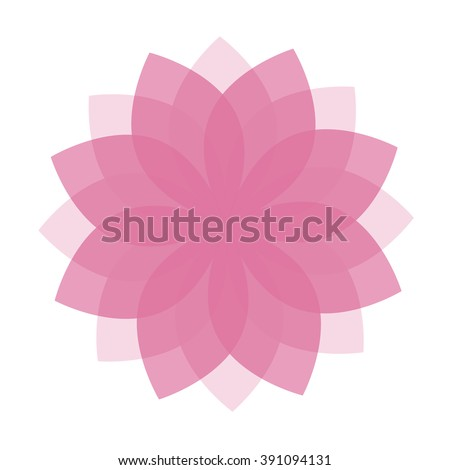 Lotus Flower Top View Logo Template Stock Photo (Photo, Vector ...