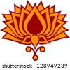 Lotus Flower - vector image - buddhism - symbol of enlightenment - stock vector