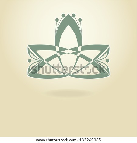 Lotus flower,vector logo. - stock vector