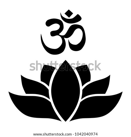 Lotus flower om symbol logo element vector de stock libre de lotus flower with om symbol logo element mightylinksfo