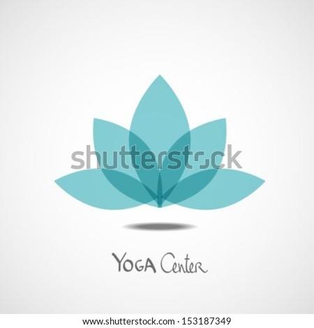Lotus Flower Yoga Center Illustration