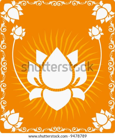 Lotus flowers in radiant and glossy brown  light 	 - stock vector