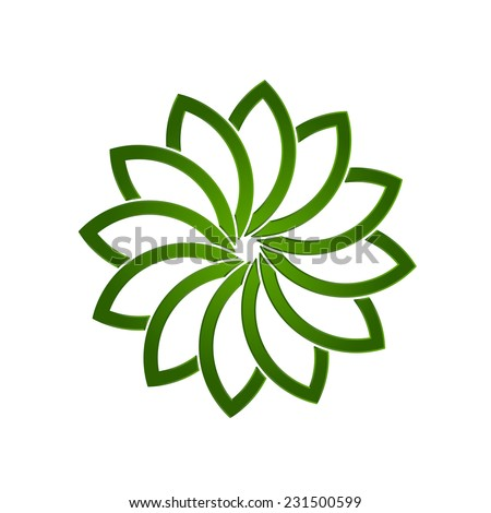 Lotus green plant - stock vector