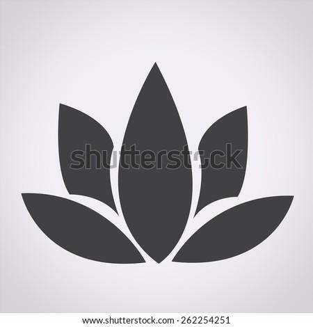 lotus icon - stock vector