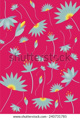 Lotus Pattern Background (vector) - stock vector