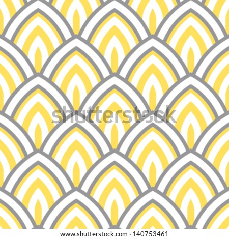 Lotus Petal Scales Seamless Background Pattern - stock vector
