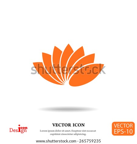 lotus vector icon - stock vector