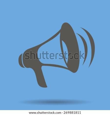 Loud-hailer symbol - stock vector