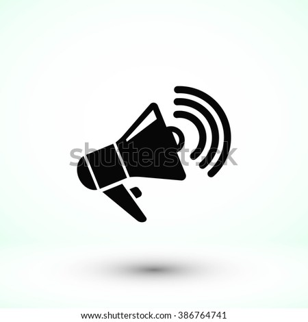 loudspeaker icon - stock vector