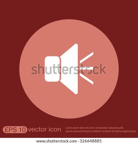 loudspeaker sign. Volume icon . sound icon - stock vector