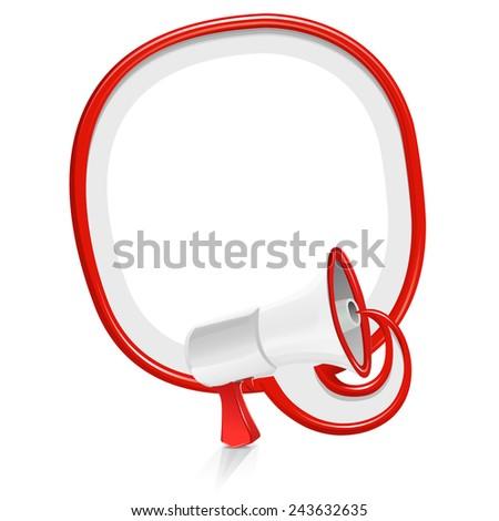 Loudspeaker speech balloon: simple edition - stock vector