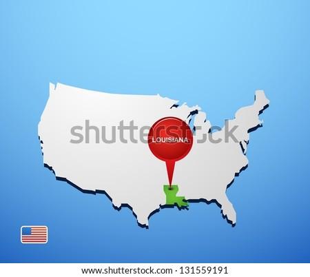 Louisiana On Usa Map
