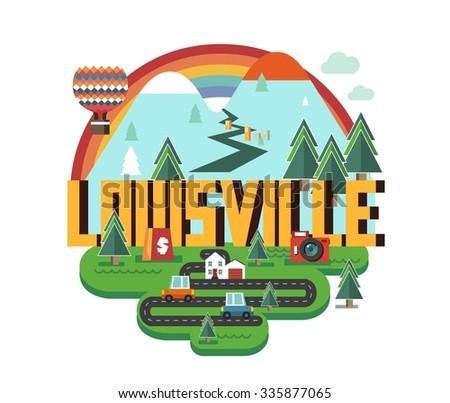 Louisville city logo in colorful vector - stock vector