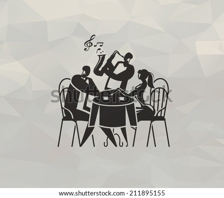 Lounge cafe. Vector format - stock vector