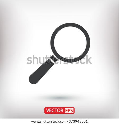 Loupe   icon - stock vector