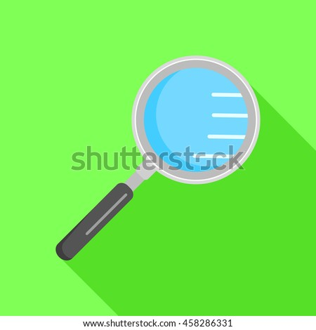 Loupe icon. Flat object. Vector design - stock vector