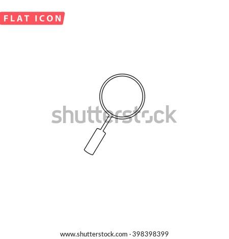 Loupe Icon Vector.  - stock vector