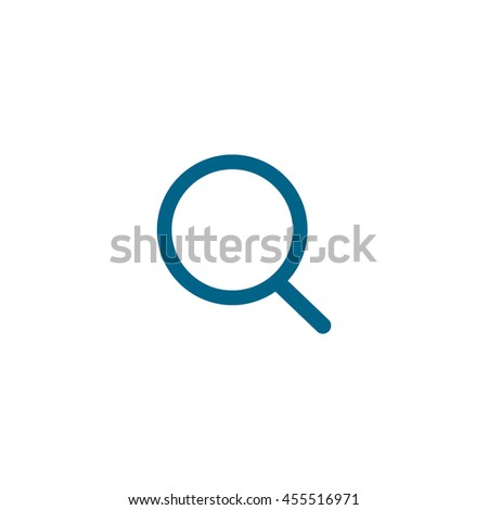 loupe, magnifying glass search icon - stock vector