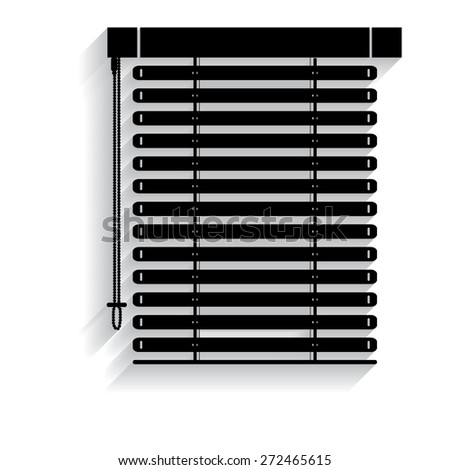 Louvers Sign Icon Window Blinds Jalousie Stock Vector 424286221 ...