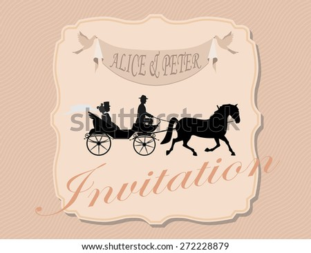 Love and happiness at all times. Invitation to the wedding and celebration. The bride and groom went to the crew. set for designers groups  - stock vector