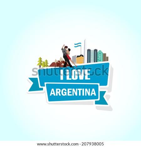 Love Argentina - stock vector