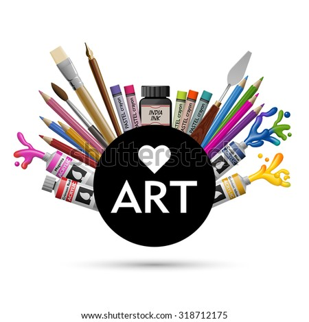 Love art, eps10 vector - stock vector