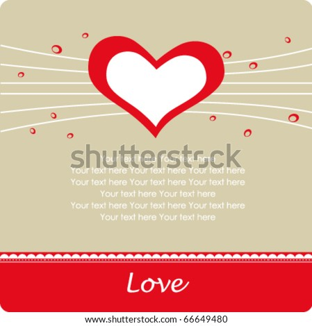 love background for valentine`s day - stock vector