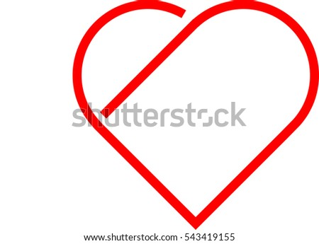 Love Background . Valentine's Day sign .line icon . Vector