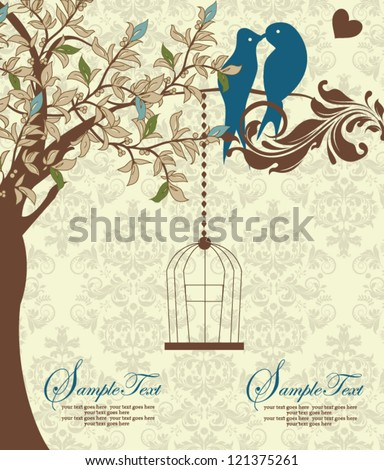 Love Birds Wedding Invitations as perfect invitations layout