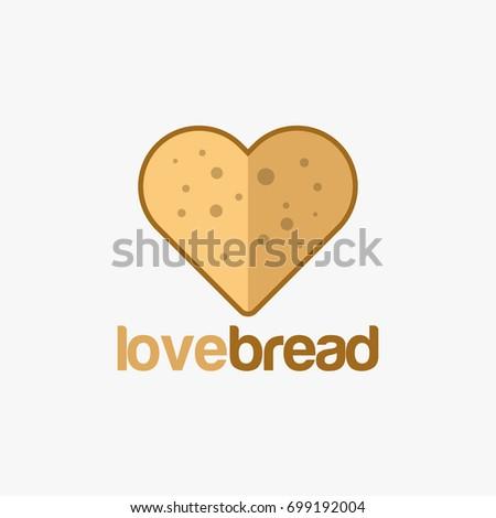 Love Bread Logo Template Designs Bakery Stock Vector (Royalty Free ...