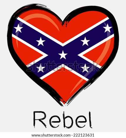 love brush grunge rebel flag