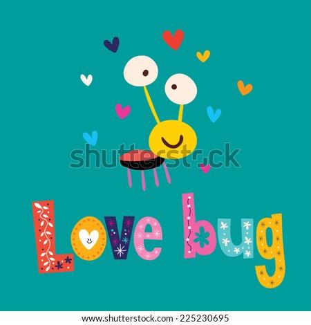 Love bug - stock vector