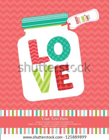 love card design. vector illustration - stock vector