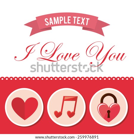 love card design, vector illustration eps10 graphic  - stock vector