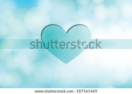 Love Day Heart on Blue Background - stock vector