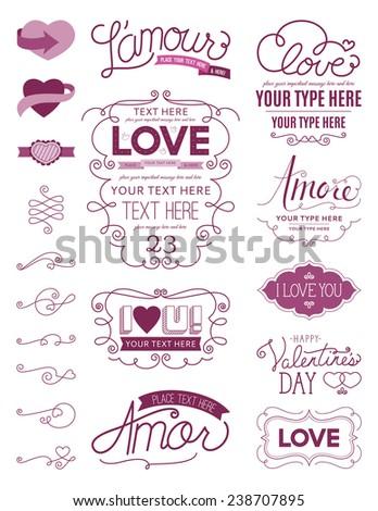 Love Design Elements - stock vector