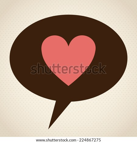 Love design over beige background, vector illustration