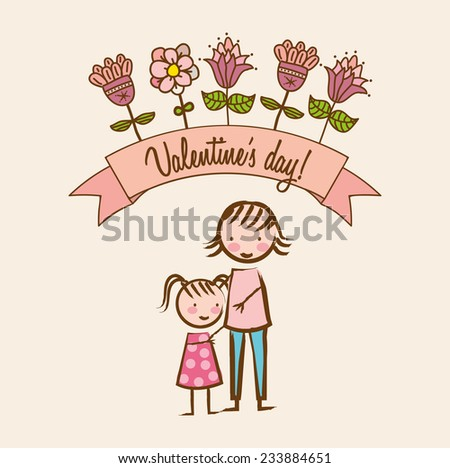 love design , vector illustration - stock vector