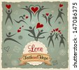 Love Faith and Hope vintage vector set. Graphic Design Editable For Your Design. - stock vector